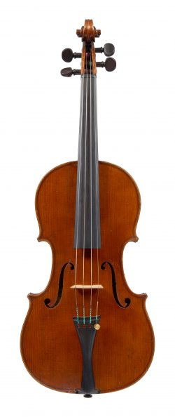 Front of a violin by Charles Boullangier, London, 1878