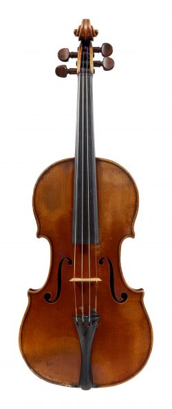 Front of a violin by Charles François Gand, Paris, 1836