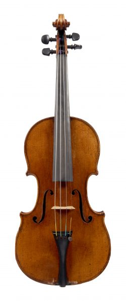 Front of a violin by Charles Jacquot, Mirecourt, circa 1857