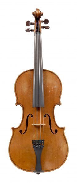 Front of a violin by Charles Jean Baptiste Collin-Mézin, Paris, 1895