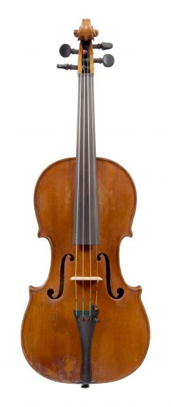 Front of a violin by Claude Aubert, Troyes, circa 1789