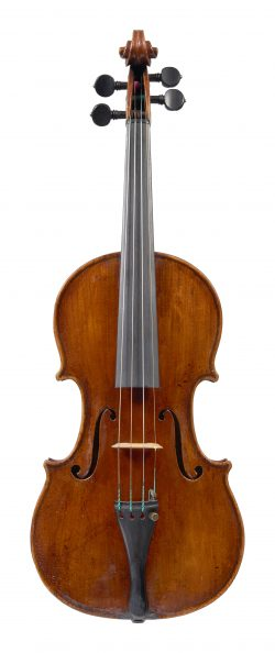 Front of a violin by Claude Pirot, Paris, 1812