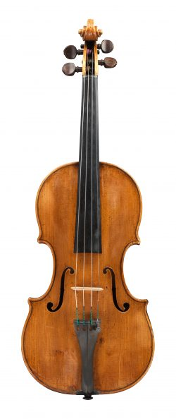 Front of a violin by David Tecchler, 1726