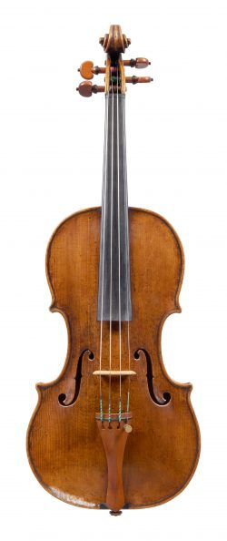 Front of a violin by David Tecchler, c1740