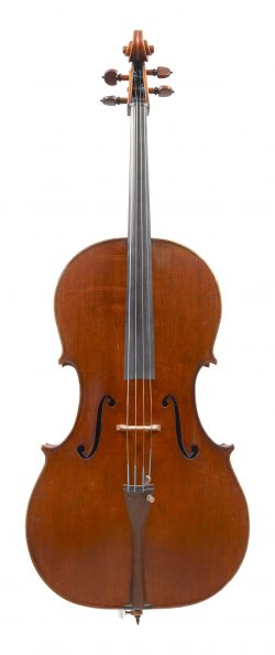 Front of a cello by Edward Withers & Son, London, c1880