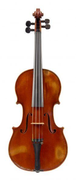 Front of a violin by Emil Hjorth & Sonner, Copenhagen, 1913
