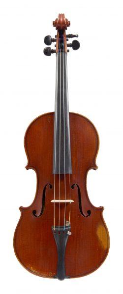 Front of a violin by Emil Hjorth & Sonner, Copenhagen, 1917