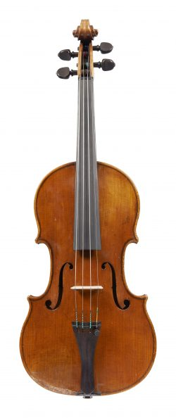 Front of a violin by Emil Hjorth & Sonner, 1931