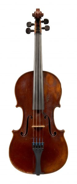 Front of a violin by Emil Hjorth and Sonner, Copenhagen, 1924