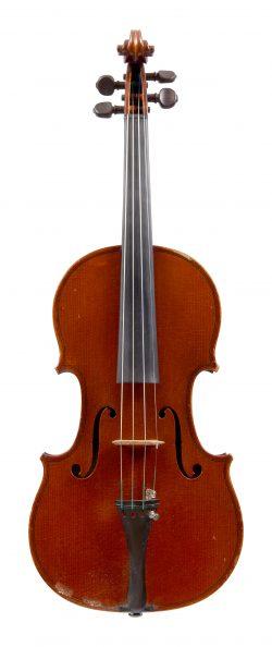 Front of a violin by Émile Germain, Paris, 1899