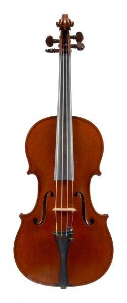Front of a violin by Emile Germain, Paris, 1895