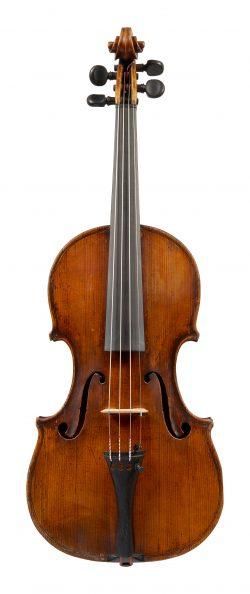 Front of a violin by Enrico Marchetti, Turin, c1910