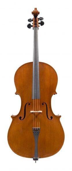 Front of a cello by Enrico Politi, Rome, 1939