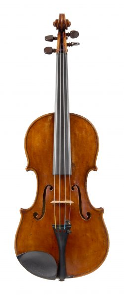 Front of a violin by Enrico Politi, Rome, circa 1920