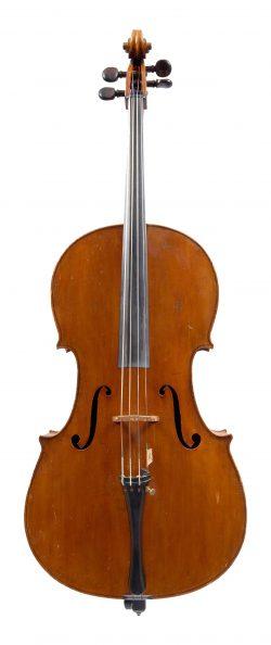 front of a cello by Enrico Rocca, Genoa, 1903