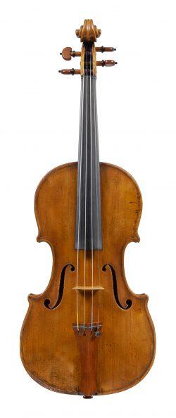 Front of a violin by Enrico Rocca, Genoa, 1893