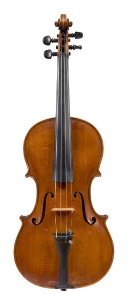 Front of a violin by Ettore Siega, Venice, 1928