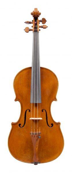 Front of a violin by Ettore Soffritti, Ferrara, 1892