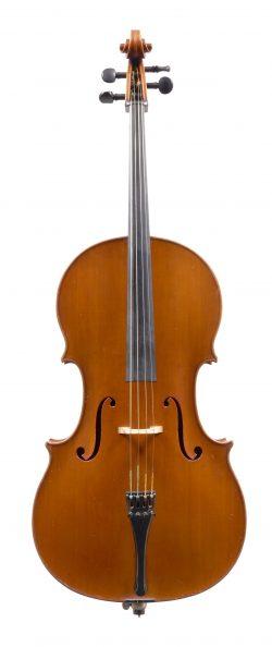 Front of a cello by Ferdinando Garimberti, Milan, 1936