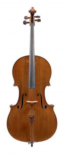 Front of a cello by Ferdinando Garimberti, Milan, 1924