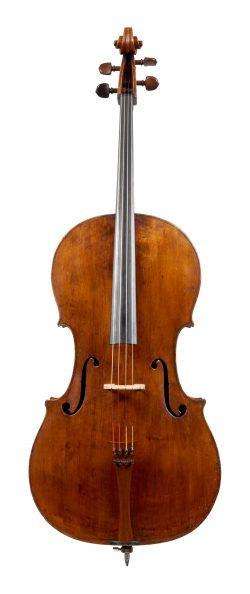 Front of a cello by Francesco Goffriller, Udine, circa 1725