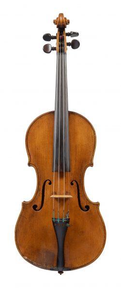 Front of a violin by Francesco Maurizi, Appignano, c1850