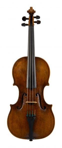 Front of a violin by Francesco Rugeri, Cremona, c1685