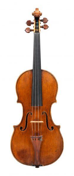 front of a violin by Francesco Stradivari, Cremona, c.1730, Ex-Oliveira