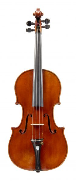 Front of a violin by Francois Bovis, Nice, 1910