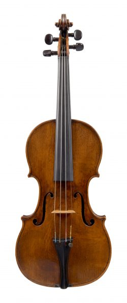 Front of a violin by François Caussin, Mirecourt, circa 1830
