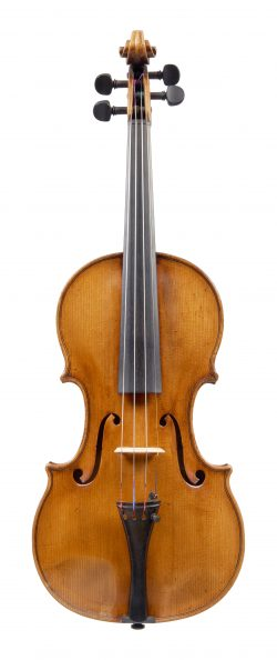 Front of a violin by François Caussin, Neufchateau, c1850