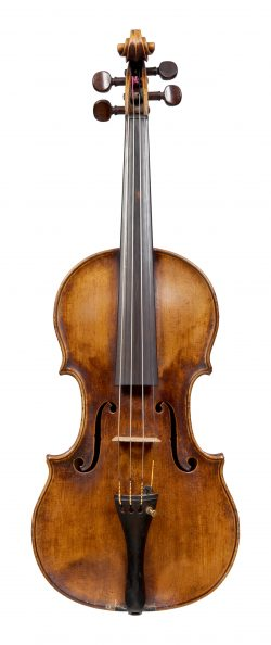 Front of a violin by Francois Caussin, circa 1850
