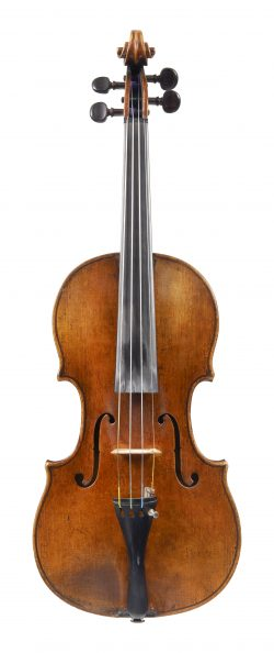 Front of a violin by François Caussin, Neufchateau, circa 1860
