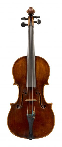 Front of a violin by Franz Geissenhof, Vienna, 1812