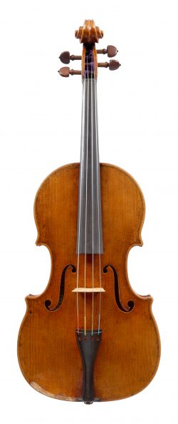Front of a viola by Franz Kinberg, Chicago, 1960