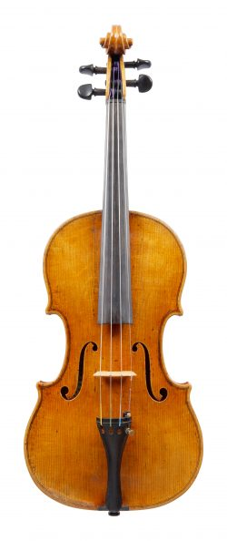 Front of a violin by Franz Kinberg, Chicago, 1951