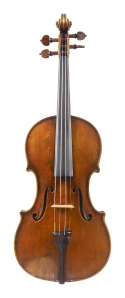 Front of a violin by Gabriel Lembock, Vienna, 1862
