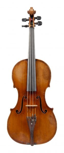 Front of a violin by Gabriel Lembock, Vienna, 1873