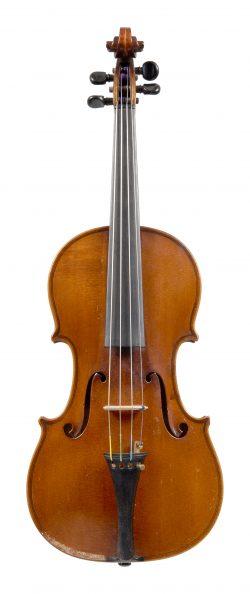 Front of a violin by Gabriel Lemböck, Vienna, 1866
