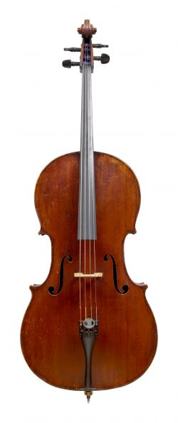 Front of a cello by Gand & Bernardel Freres, Paris, 1873