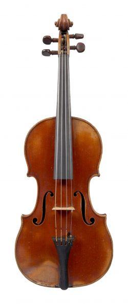 Front of a violin by Gand & Bernardel Frères, Paris, 1869