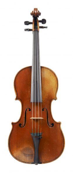 Front of a violin by Gand & Bernardel Frères, Paris, 1875