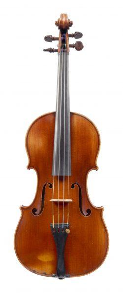 Front of a violin by Gand & Bernardel, Paris, 1890