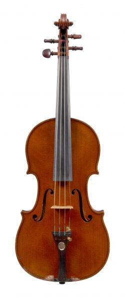 Front of a violin by Gennaro de Luccia, Mercato Cilento, 1929
