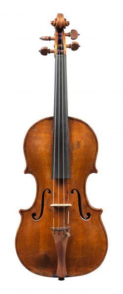 Front of a violin by Gennaro Gagliano, Naples, c1770