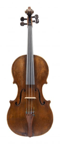 Front of a violin by George Craske, Stockport, c1870