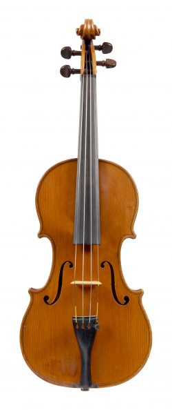 Front of a violin by George Pyne, London, circa 1920