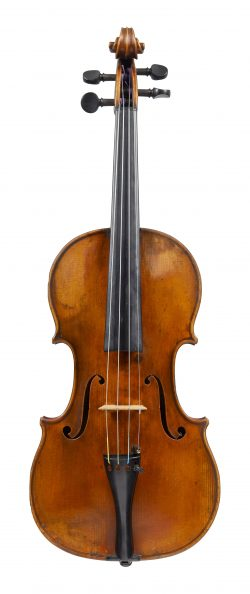 Front of a violin by George Withers, London, circa 1885