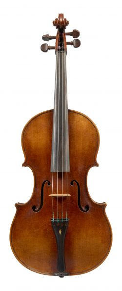 Front of a viola by George Wulme Hudson, London, c1930