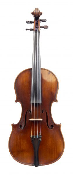 Front of a violin by George Wulme-Hudson, 1902
